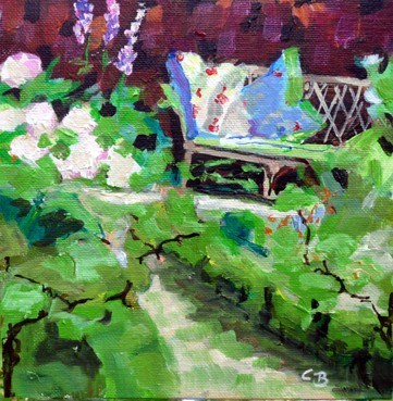 """a quiet place"" original fine art by Claudia Brandt"