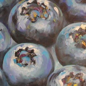 """blueberries"" original fine art by Kim Smith"