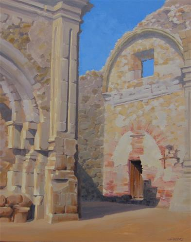 """Mission Church"" original fine art by John White"