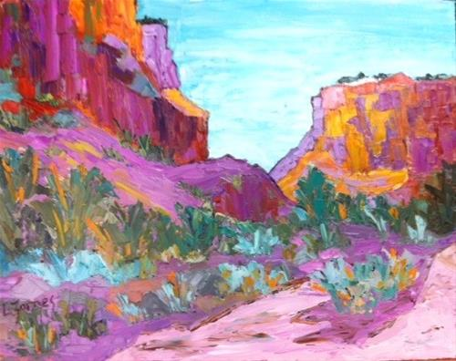 """Santa Fe Desert Color"" original fine art by Liz Zornes"