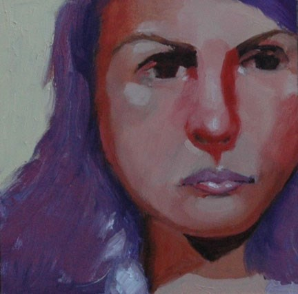"""FACE No. 114"" original fine art by Linda Popple"