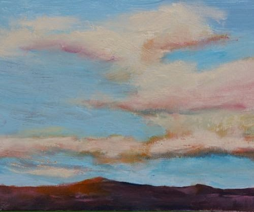 """Southwest Sunrise 2, Southwest Landscape Paintings by Arizona Artist Amy Whitehouse"" original fine art by Amy Whitehouse"