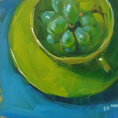 """Grapes in a Cup --- SOLD"" original fine art by Carol Marine"