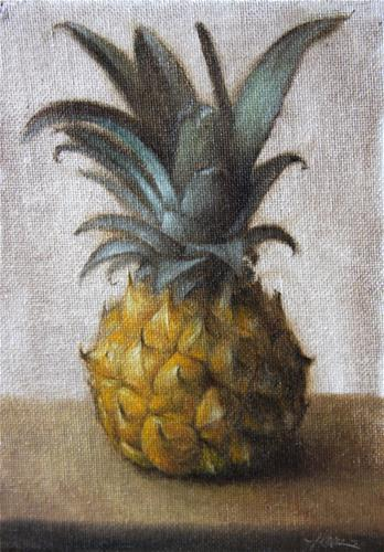 """Baby Pineapple"" original fine art by Jonathan Aller"