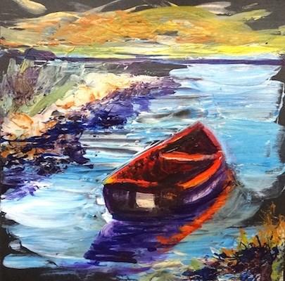 """""""4135 - Safe Harbour - KISS painting"""" original fine art by Sea Dean"""