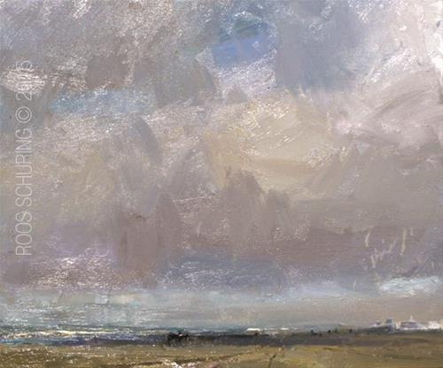 """""""Painting Hazy Clouds + Masterclass Pics"""" original fine art by Roos Schuring"""