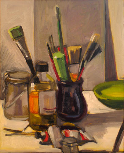 """Art Tools"" original fine art by Carol Steinberg"