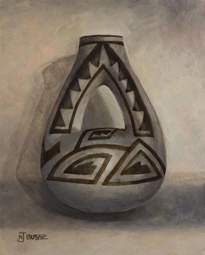 """Anasazi Pots, Still Life Art Painting DOUBLE-NECKED JAR by Colorado Artist Nancee Jean Busse"" original fine art by Nancee Busse"