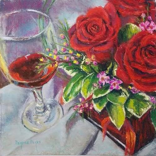 """Days of Wine and Roses"" original fine art by Denise Beard"