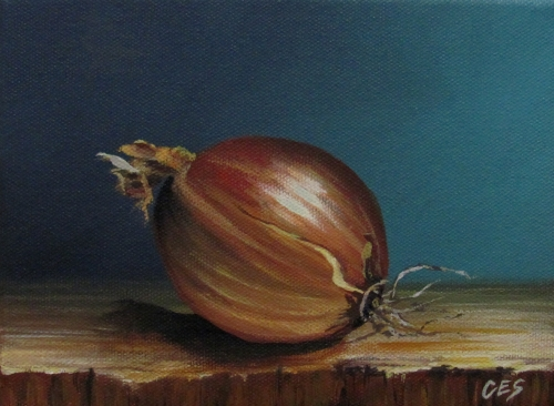 """Vidalia Onion"" original fine art by ~ces~ Christine E. S. Code"