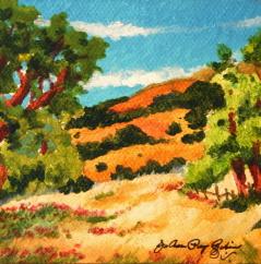 """Gilroy, East Hills"" original fine art by JoAnne Perez Robinson"