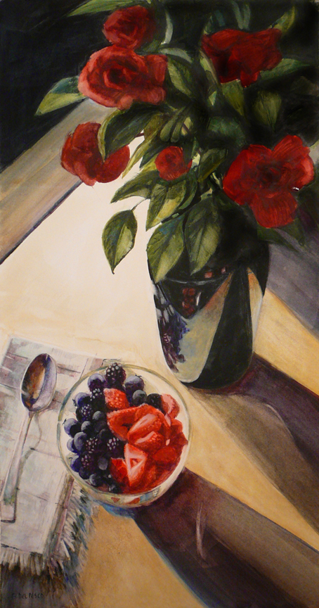 """Garden Harvest"" original fine art by Belinda Del Pesco"