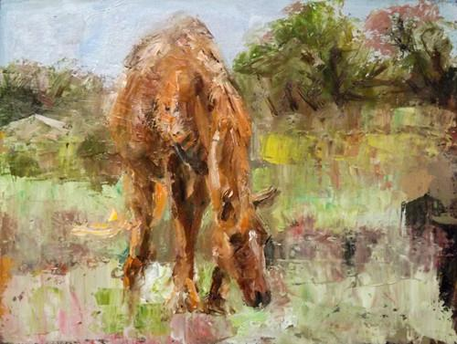"""horse,5"" original fine art by Run-      Zhang Zane"