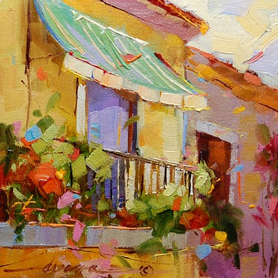 """Contagious Colors of Italy"" original fine art by Dreama Tolle Perry"