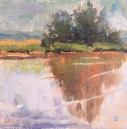 """Wetlands Reflection"" original fine art by Victoria  Biedron"