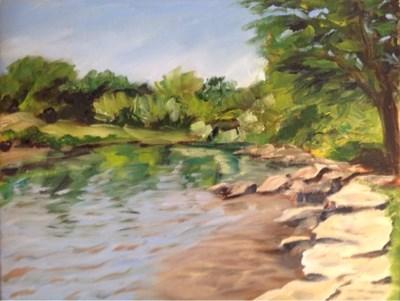 """""""Landscape 4"""" original fine art by Debra Kennedy"""