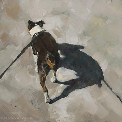"""Shadow Walk 2"" original fine art by Kathleen Coy"