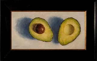 """Cut Avocado"" original fine art by Michael Naples"