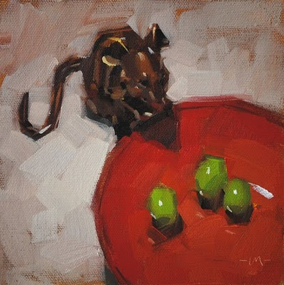 """Mouse Snack - n/a"" original fine art by Carol Marine"