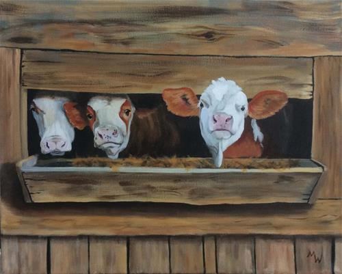 """Dining out"" original fine art by Michelle Wolfe"