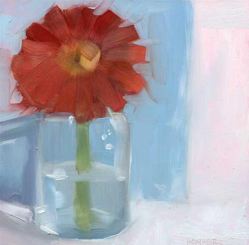 """On Blue"" original fine art by Heather Bennett"