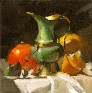 """A Green Thingy --- Sold"" original fine art by Qiang Huang"