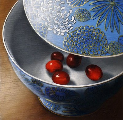 """Berries in Bowl - Complete"" original fine art by Jelaine Faunce"