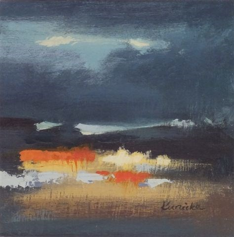 """Landscape 35"" original fine art by Ewa Kunicka"