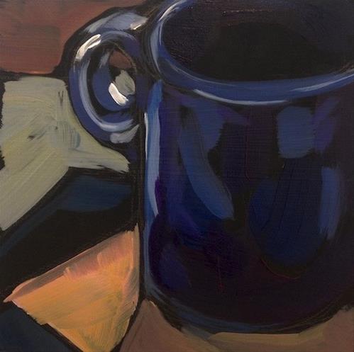 """Art Colony Mug with Ring Handle"" original fine art by Kat Corrigan"