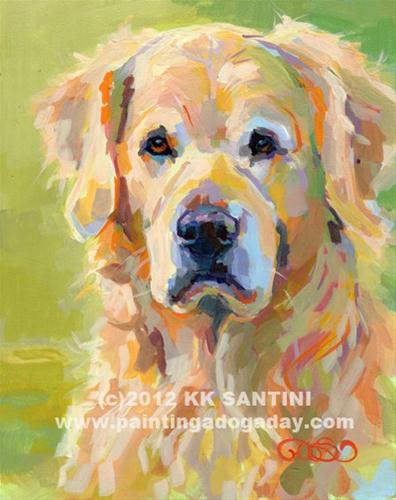 """Cooper"" original fine art by Kimberly Santini"
