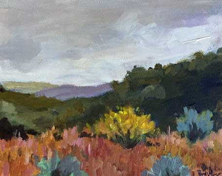 """Hiking Black Canyon"" original fine art by Pamela Munger"
