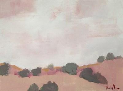 """""""Pink Landscape"""" original fine art by Pamela Munger"""