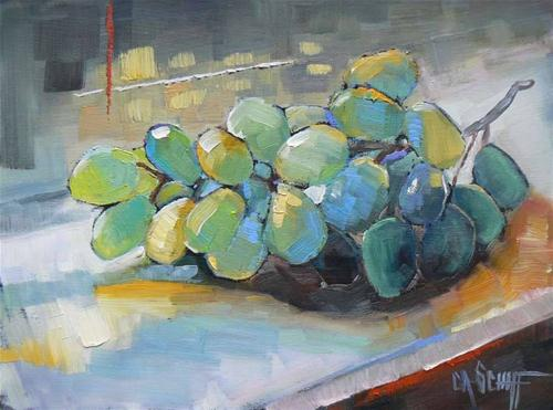 """Grapes in the Window"" original fine art by Carol Schiff"