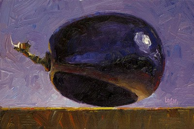 """Planetary Purple Grape"" original fine art by Raymond Logan"