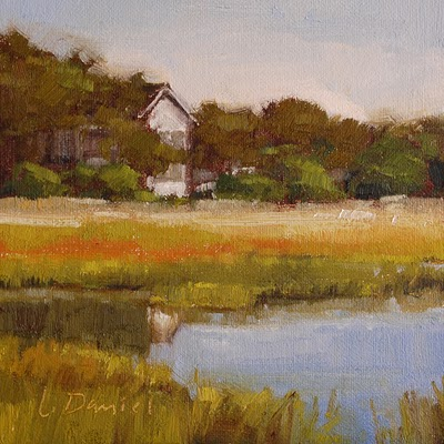 """Help Japan Auction #2 - Marsh's Edge Study"" original fine art by Laurel Daniel"