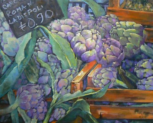 """""""Artichokes of Campo di Forie"""" original fine art by Carol Schiff"""