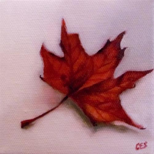 """Maple Leaf"" original fine art by ~ces~ Christine E. S. Code"
