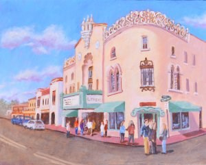 """A Show at the Lensic"" original fine art by Robert Frankis"