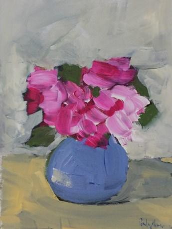 """Pink in Grey"" original fine art by Pamela Munger"