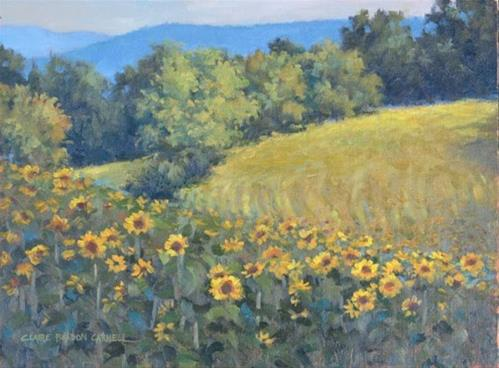 """'Golden Summer at Messiah' An Original Plein Air Oil Painting by Claire Beadon Carnell"" original fine art by Claire Beadon Carnell"