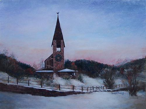 """Aspen Chapel"" original fine art by Denise Henley"