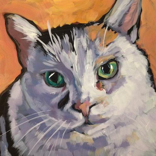 """Ben the Barn Cat"" original fine art by Kat Corrigan"