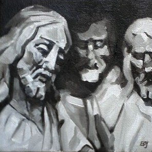 """#27 - The Witnesses"" original fine art by Elizabeth Dawn Johnston"