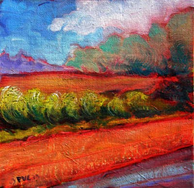 """Valley Storm 7"" original fine art by Pam Van Londen"