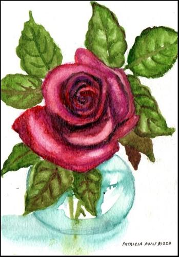 """Deep Red Rose"" original fine art by Patricia Ann Rizzo"