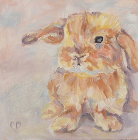 Bunny Foo Foo original fine art by Carol DeMumbrum