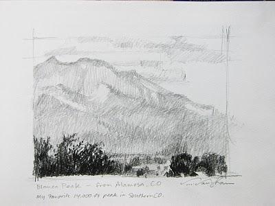"""My Colorado Sketchbook__p1"" original fine art by V.... Vaughan"