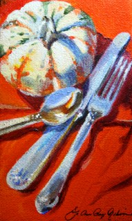 """Happy Thanksgiving 2014!"" original fine art by JoAnne Perez Robinson"