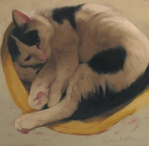 """Sleepy Spot and an Honorable Mention at 12th Annual VMRC exhibit"" original fine art by Diane Hoeptner"