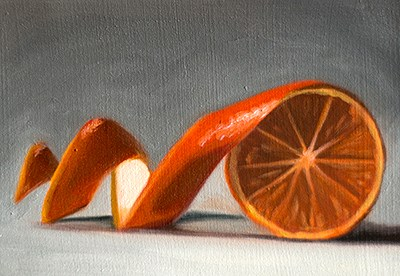 """Unwinding Orange"" original fine art by Lauren Pretorius"